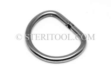 "#10460 - 1-1/2"" x 1/4"" Stainless Steel ""D"" Ring for 1.5"" Webbing. ratchet tie-down, strapping, rigging, stainless steel"