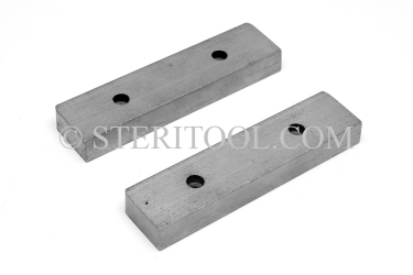"#10003 - 4"" Flat SS Jaws for 4"" Bench Vise #10001 (pair). vise, clamp, work holding, stainless steel, fabrication"