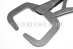 "#10026NP - 10.5""(262mm) Stainless Steel Welding Clamp, Locking, No Pads. - 10026NP"