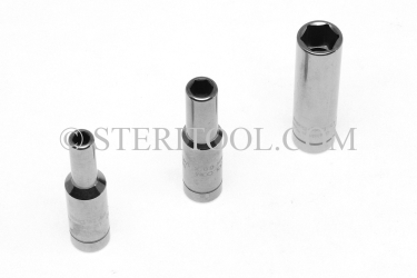 #10480 - 4mm x 1/4dr Stainless Steel Deep Socket. 1/4dr, 1/4 dr, 1/4-dr, deep, socket, stainless steel