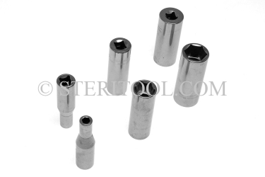 #10634 - SET: 12 pc Stainless Steel 3/8DR Deep Socket Metric Set: 6mm ~ 19mm. 3/8 dr, 3/8dr, 3/8-dr, deep, stainless steel, socket