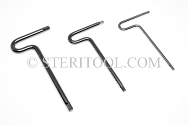 #11914 - SET: 9 pc Stainless Steel T Hex Key Metric Set: 2.5mm ~ 10mm. T, hex, hex key, formed, stainless