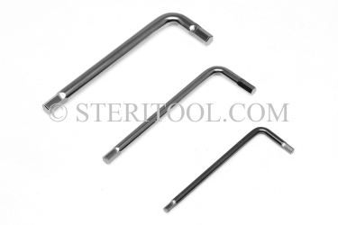 #11941 - SET: 9 pc Stainless Steel L Hex Key Long Length Metric Set: 1.5mm ~ 6.0mm. L. hex, stainless steel