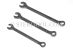 "#20190 - SET: 7 pc Stainless Steel Combination Wrench Inch Set: 1/4"" ~ 5/8"". - 20190"