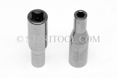 #10620 - 6mm x 3/8 DR Stainless Steel Deep Socket. 3/8 dr, 3/8dr, 3/8-dr, deep, stainless steel, socket