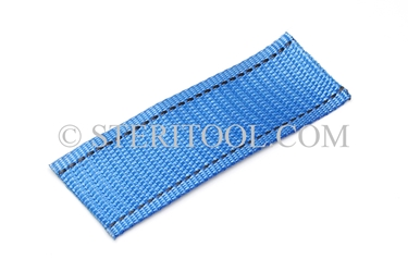 "#10441 - 1.5"" POLY (Blue) Webbing, per foot. ratchet tie-down, strapping, rigging, stainless steel"